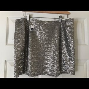 NWT GAP Sequin Gold Mini Skirt